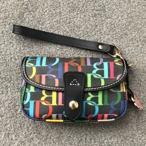DOONEY & BURKE Rainbow 🌈 Logo Leather Wristlet
